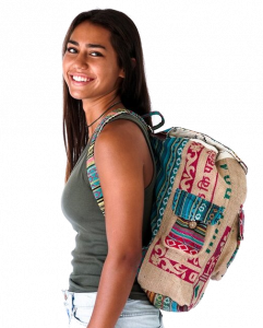 Rice Love - Jaipur Recycled travel backpack