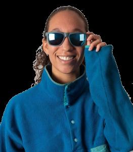 Karun Island Blue sunglasses recycled fishing nets plastic and metal