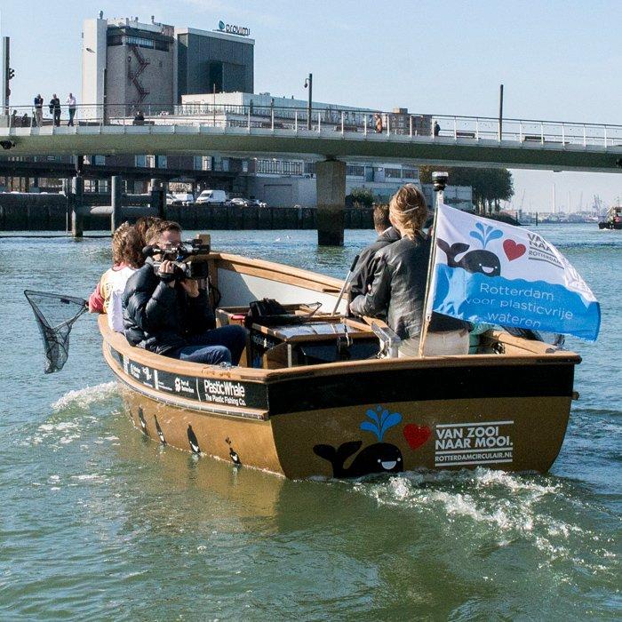Plastic Whale, fishing for ocean bound plastic