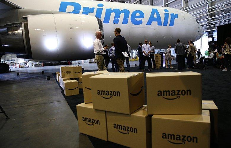 amazon jet with boxes