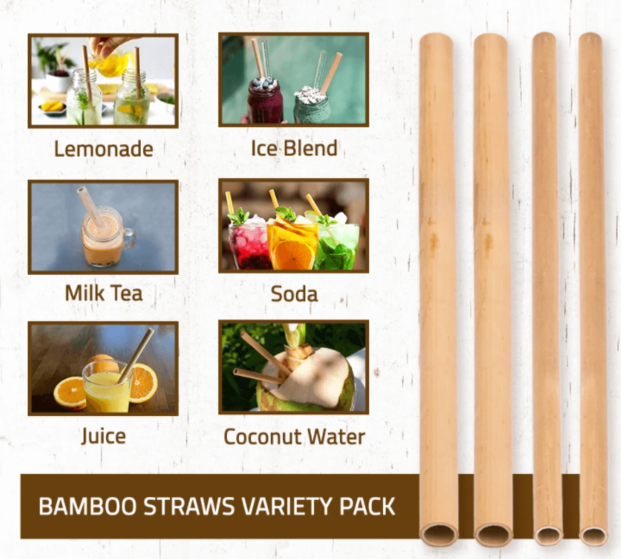 Rainforest Bowls - Bamboo Straws