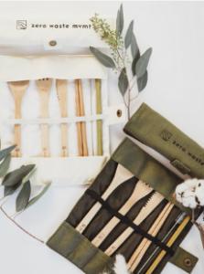 Ash and Rose - Travel Bamboo Utensil Set