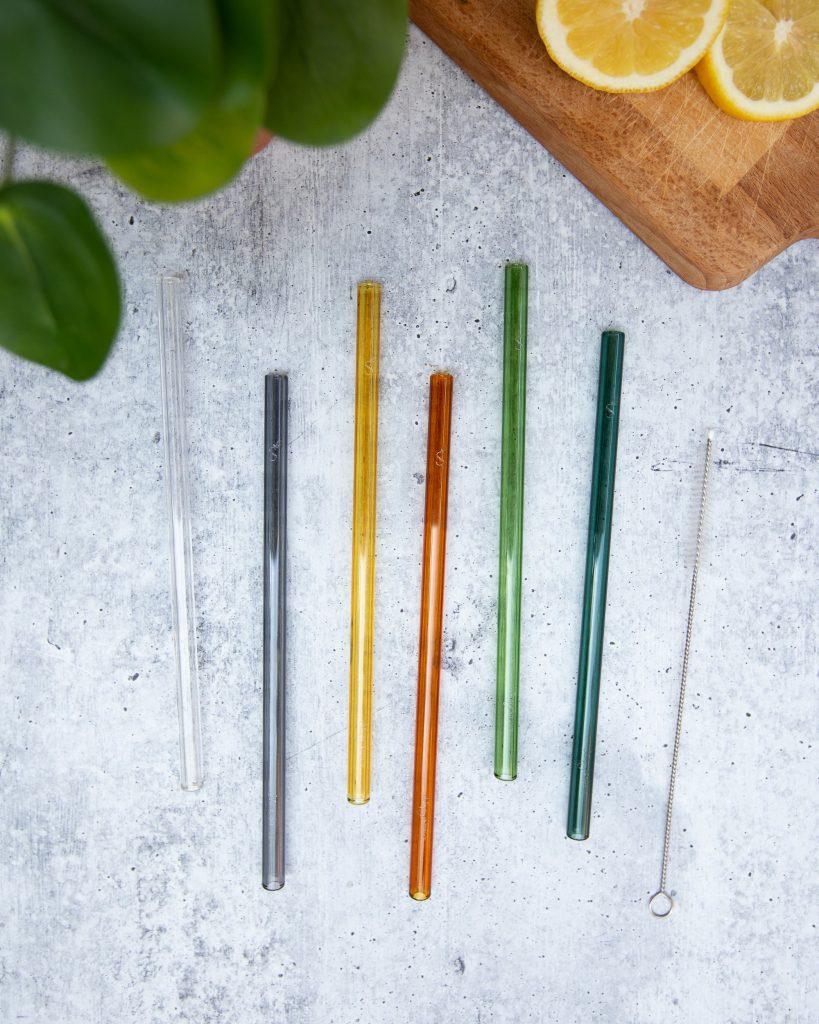 Classic Straight 6 Pack Glass Straws