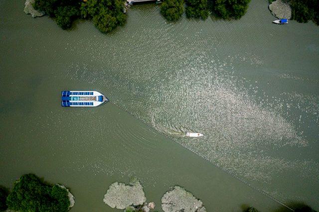 Ocean Cleanup Interceptor river cleanup barge