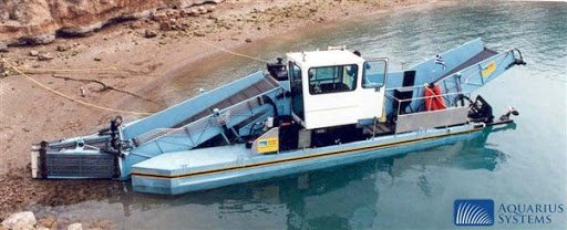 Trash Hunter river and canal cleanup boat by Aquarious Systems