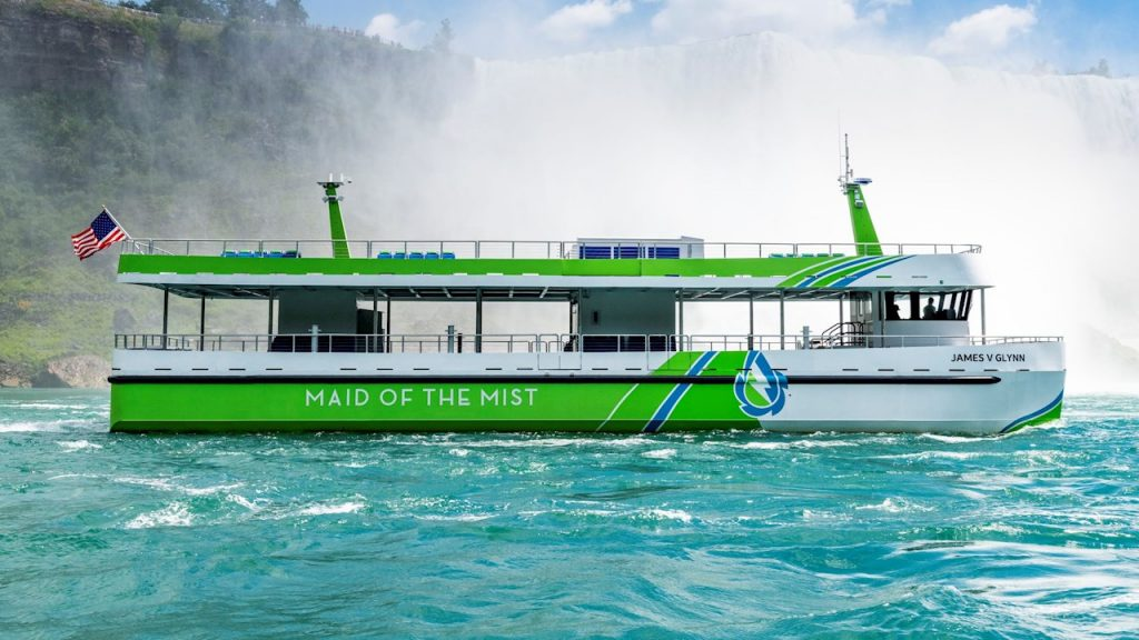 maid of the mist electric ferry boat