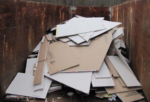 gypsum waste to be sent for recycling