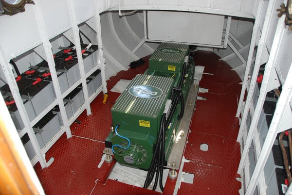 Tender #4 electric workboat motor room
