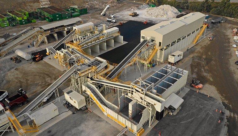 Zanker gypsum recycling plant