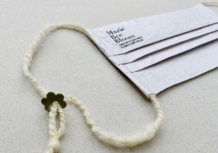 biodegradable masks with flower seeds